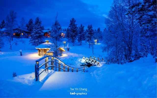 Doesn't this photo look like winter wonderland? There is something about snow combined with the lights that made it so magical!