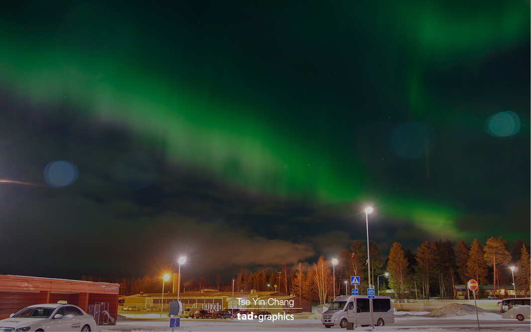 Mother nature put on quite a show in Ivalo to farewell us
