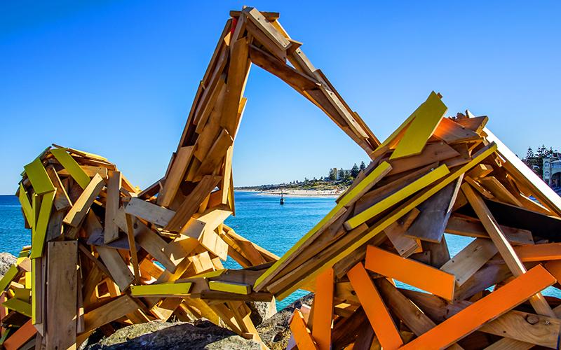 Elyssa Sykes-Smith, The Break Wall, Sculpture by the Sea, Cottesloe 2016