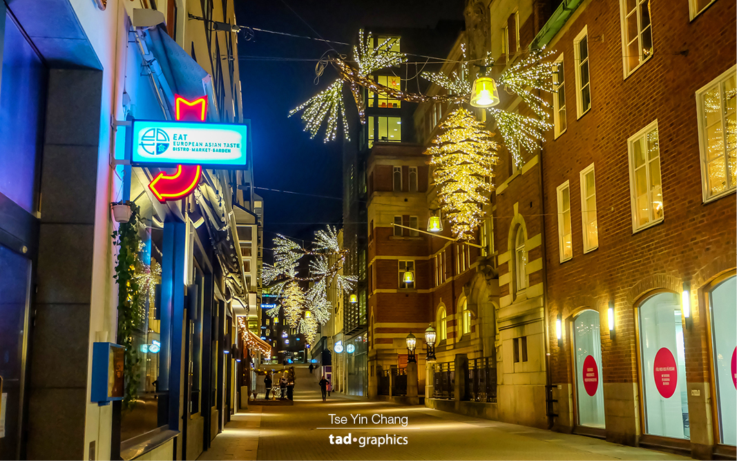 Christmas decorations in Stockholm's city centre – the living heart of the city where residents come to work, shop, and have fun