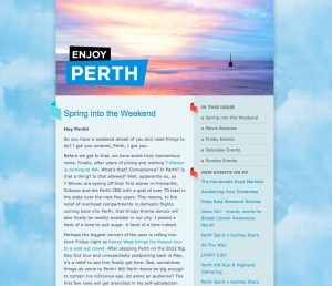 Enjoy Perth Newsletter - 4 September 2014 Spring