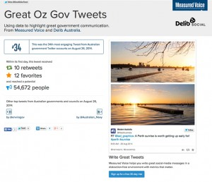 Great Oz Gov Tweets - Sunrise at Matilda Bay