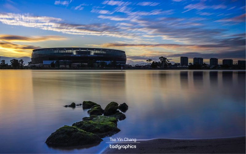 Perth Stadium from East Perth