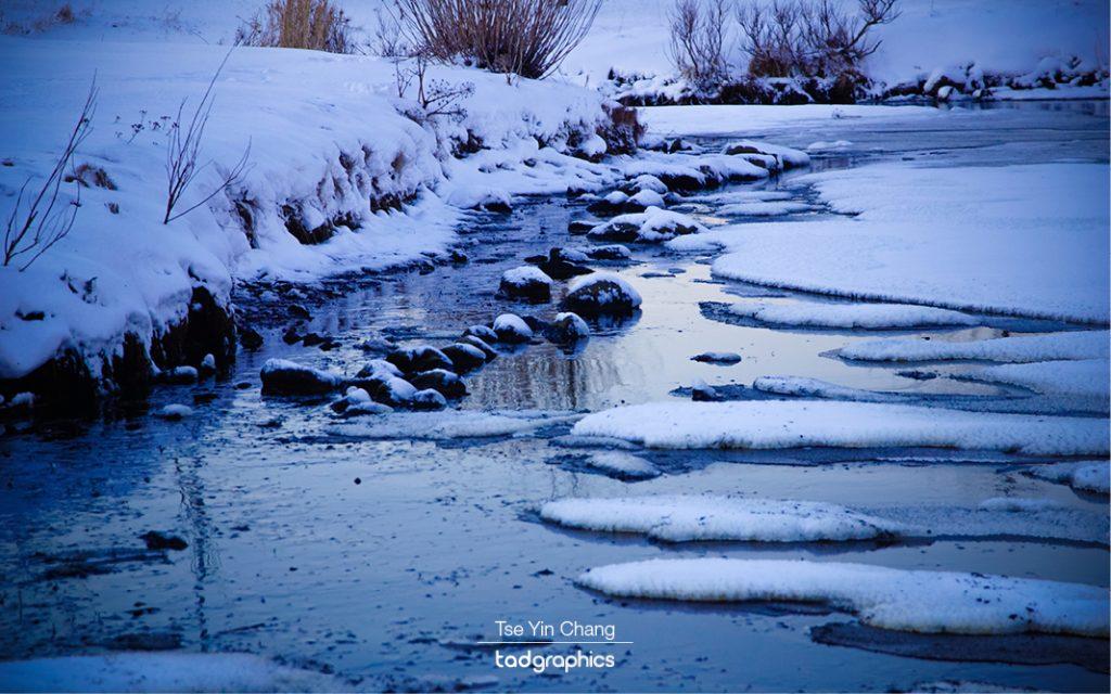 Frozen Lake Reykjavíkurtjörn