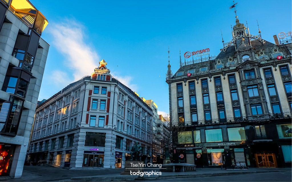 Shopping along Karl Johans Gate
