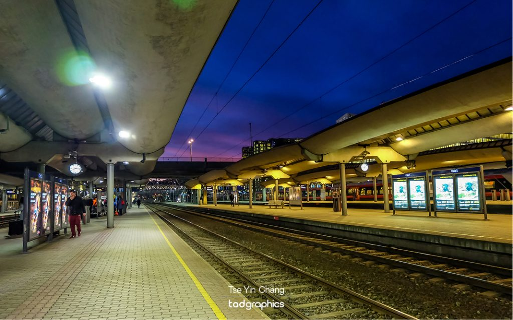 Oslo Central Station at dawn