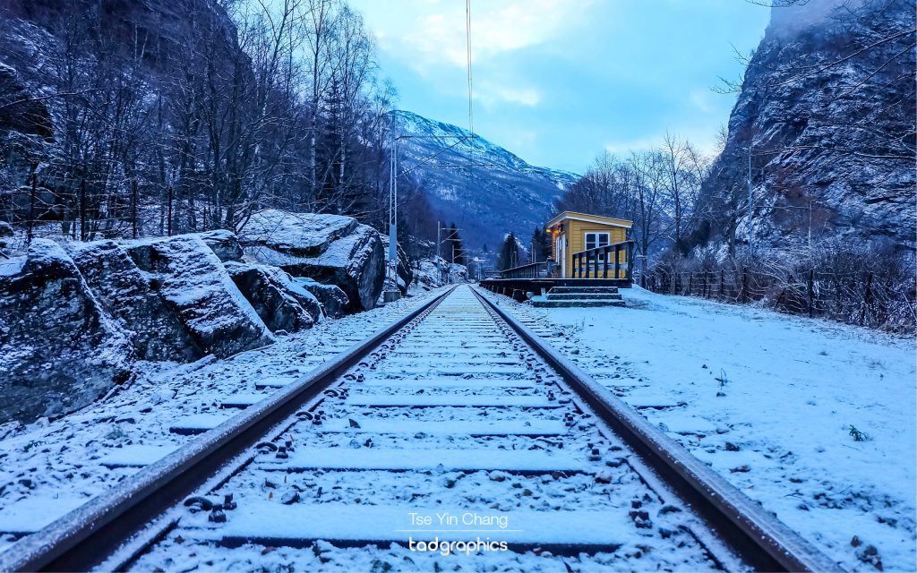 The Flåm Railway is one of the steepest trainlines in the world