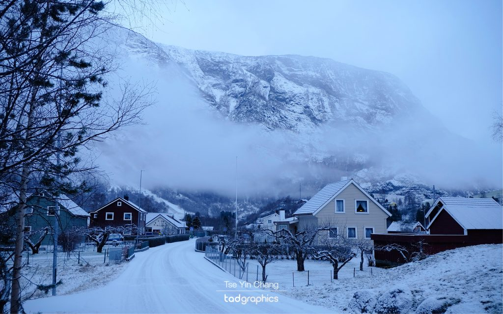 It was a snowy and icy morning in Lunden