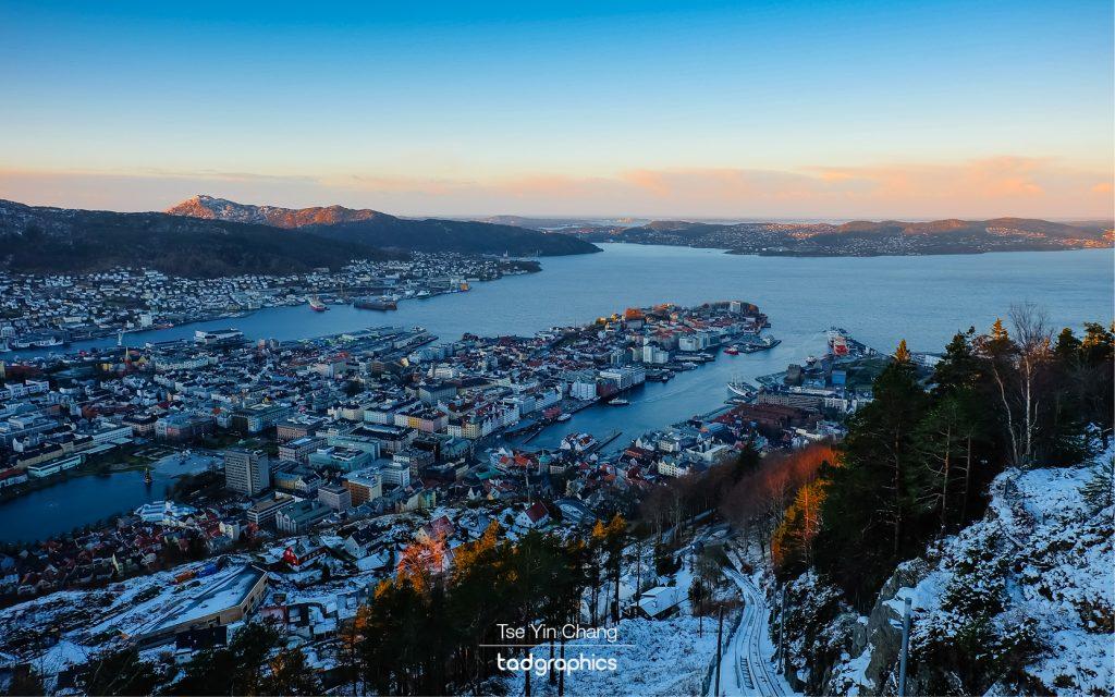 Bergen from Mount Fløyen