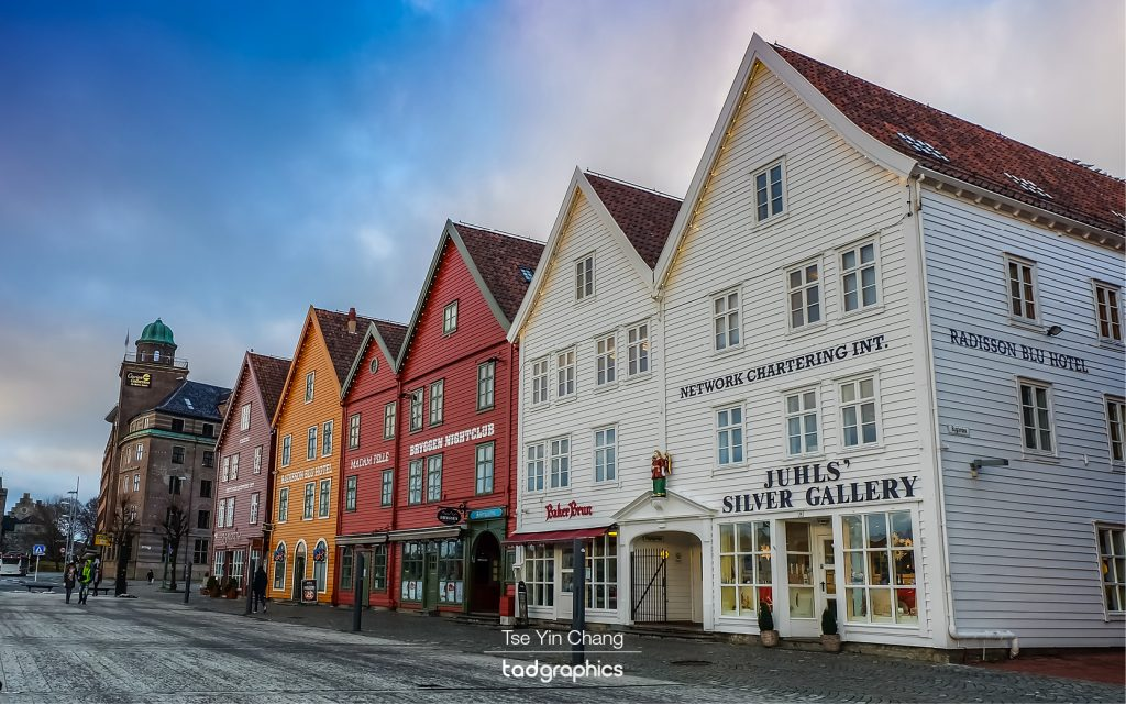 Bryggen is one of the most photographed tourist spots, these colourful buildings enjoy a historic quaintness that can only be found in Europe