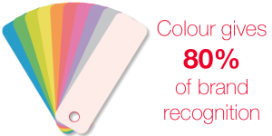 Colour gives 80% of brand recognition
