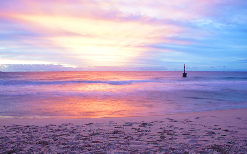 Winter sunset at Cottesloe Beach