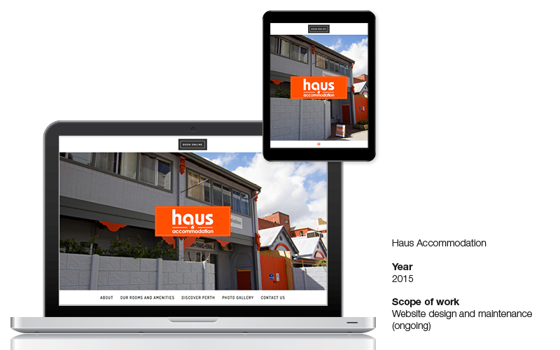 Web design - Haus Accommodation