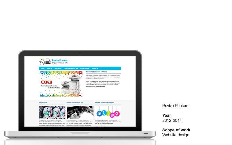 Revive Printers website